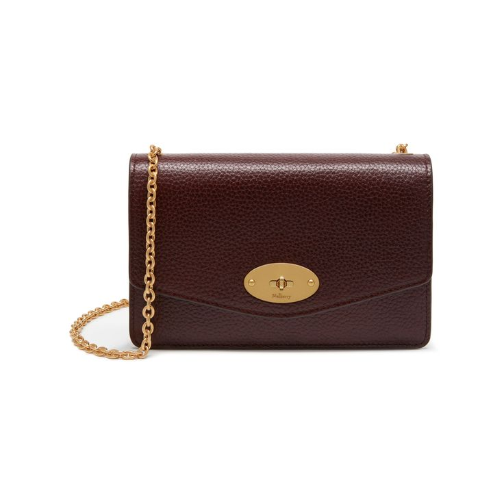 Mulberry - Small Darley in Oxblood Natural Grain Leather