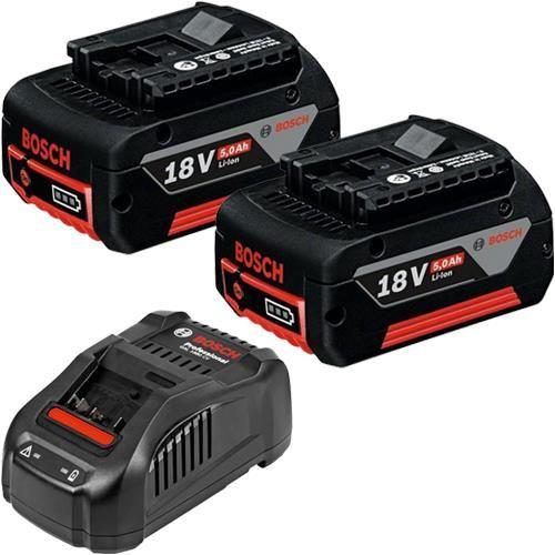 Bosch 18v Battery Kit 2x 5 0ah Li Ion Gal 1880 Cv Quick Charger Bosch Charger Lis