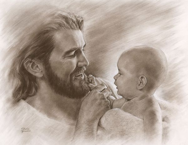 """""""Holding a new baby in your arms, the only way to describe him or her is precious. They are most precious to the Savior because they are His. He purchased them with His own blood. When Jesus takes a baby in His arms, He sees beyond that tiny fragile body to the possibilities, the potential, the destiny of that child.. both in this life and in the world to come."""" Precious by David Bowman"""