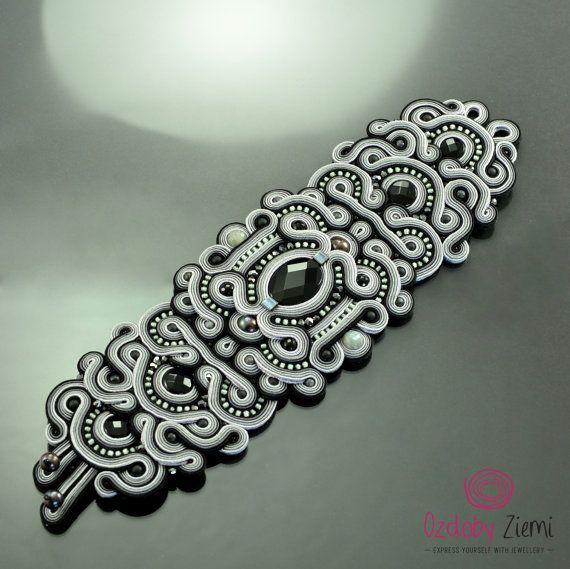 Custom order for ukrazu Soutache bracelet Kelabu by OzdobyZiemi