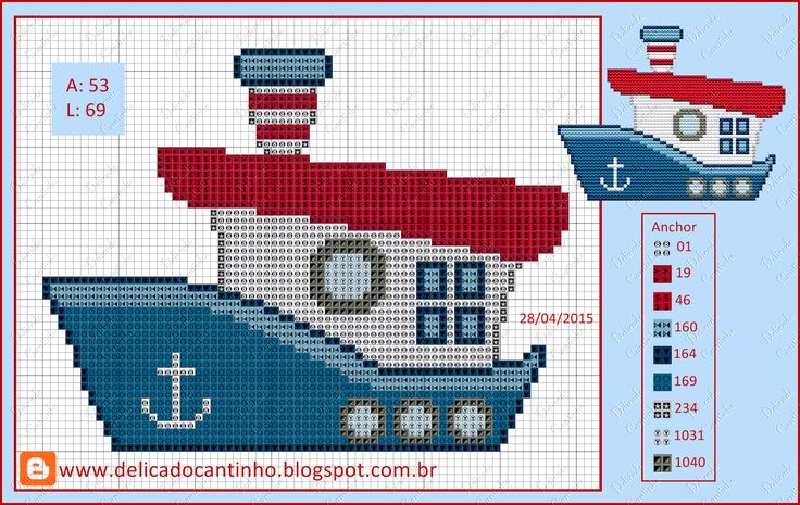 "Delicate Corner: Charts Cross Stitch ""Bears Sailors"""