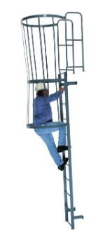 LOOK at this Deluxe Roof Access Ladder! It comes in a LOVELY grey color, and it even has a CAGE. BUY ONE TODAY!