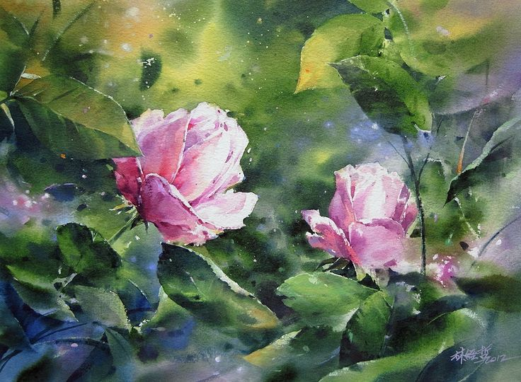 34 best Watercolors nature images on Pinterest Water colors - gardine für küche
