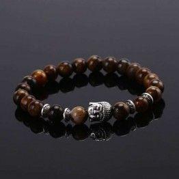 HONEYYIYI  Natural Stone Buddha Beads Bracelet