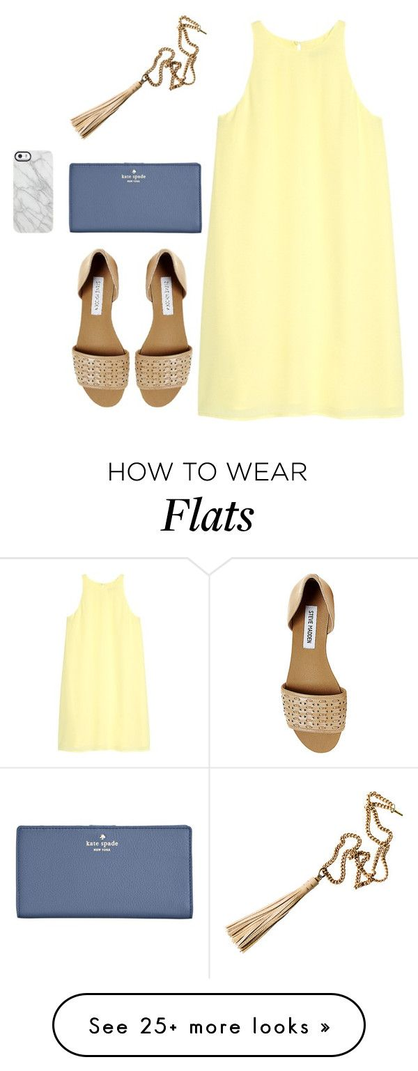 """YOU ARE MY SUNSHINE"" by sadiepatton on Polyvore featuring MANGO, Steve Madden, Uncommon and Kate Spade"