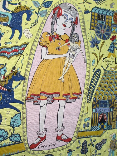 Detail from Grayson Perry's Walthamstow Tapestry