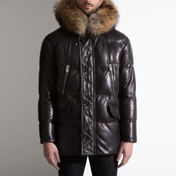 Bally NAPPA DOWN PARKA Men´s nappa leather coat in black Men´s nappa... (€5.690) ❤ liked on Polyvore featuring men's fashion, men's clothing, men's outerwear, men's coats, mens hooded coats, mens waterproof parka, mens coats and mens parka