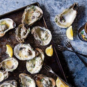 This is a great appetizer to kick off a party, because oysters tend to draw a crowd—it's fun to watch (and smell) them sizzling over the...