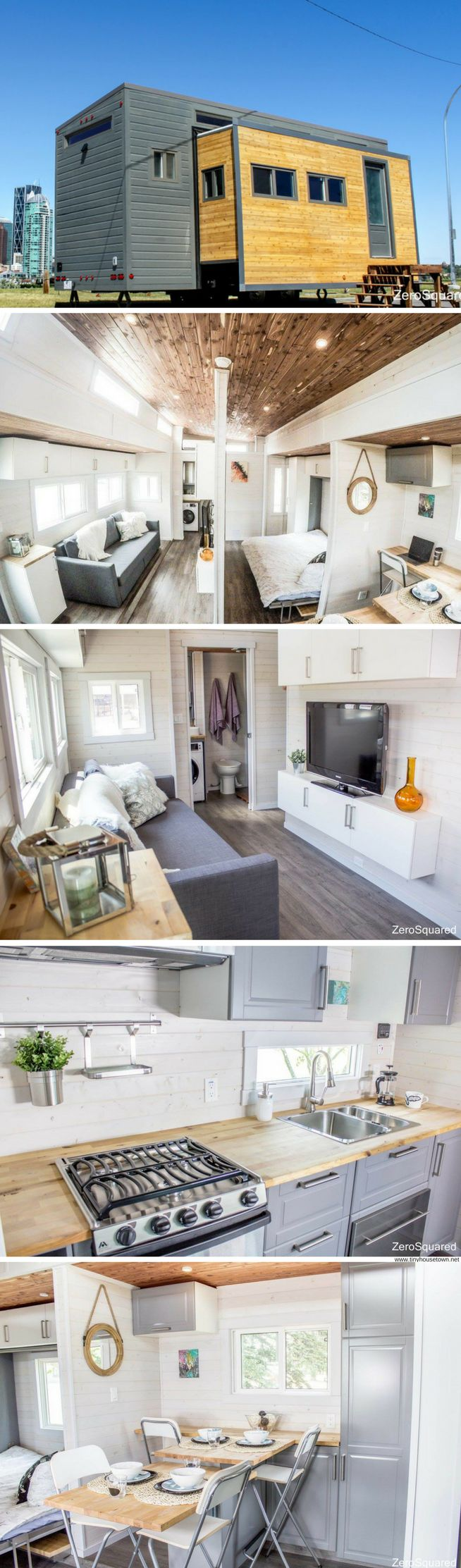 The Aurora tiny home from ZeroSquared