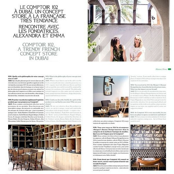 Madame Magazine March 2016 Issue Comptoir102: A French Trendy Concept Store in Dubai
