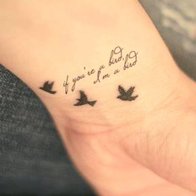 im a bird: Bird Tattoos, Idea, Birds Tattoo, Cute Birds, A Tattoo, Pretty Tattoo, Favorite Quotes, Couple Tattoos, Birds In