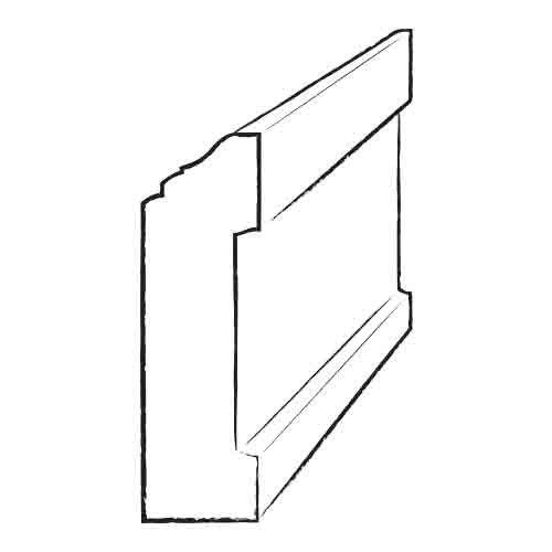 "3.5"" x 5.81"" x 94"" Cork Wrap Wall Base in Cinzento"