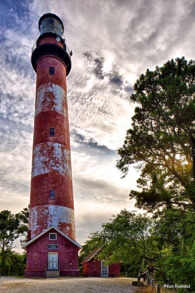 virginia lighthouses   Assateague Lighthouse, Chincoteague, VA