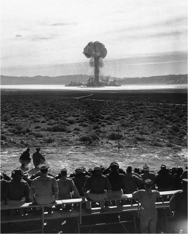 Spectators at the Nevada Test Site.