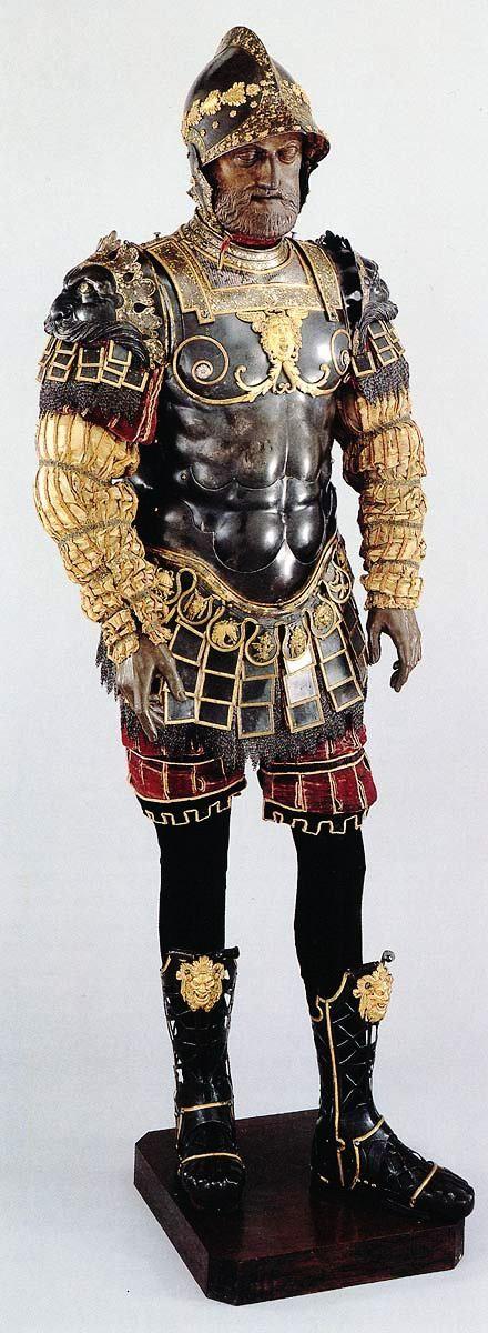 Roman-Style Armor Given to Philip II of Spain (Pesaro, 1546)