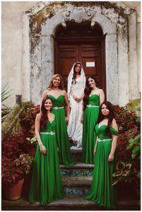 Vestidos para damas de honor en color verde #MásQ1Boda