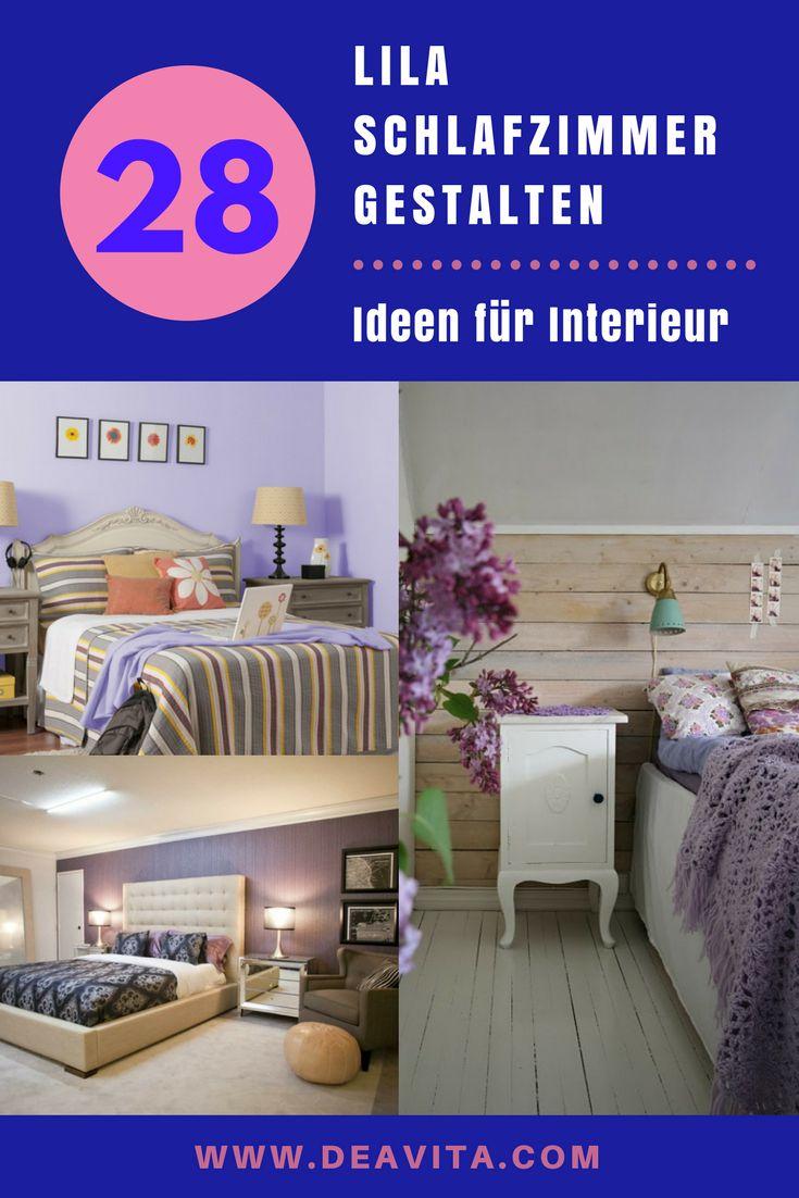 Schlafzimmer gestalten fliederfarbe  Die besten 25+ Lila schlafzimmer Ideen auf Pinterest | Farbmuster ...
