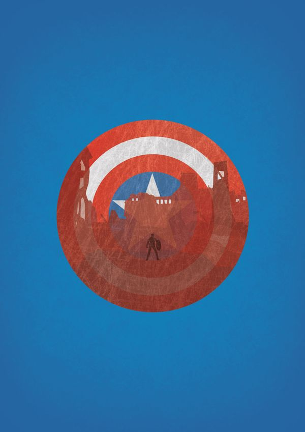 Captain America - DC / Marvel Superheroes Posters by Alex Litovka, via Behance