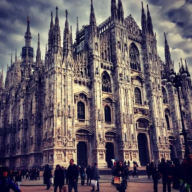 The #Duomo in Milan is a model of imposingly beautiful Gothic #architecture. Photo courtesy of pklimkiewicz on Instagram.
