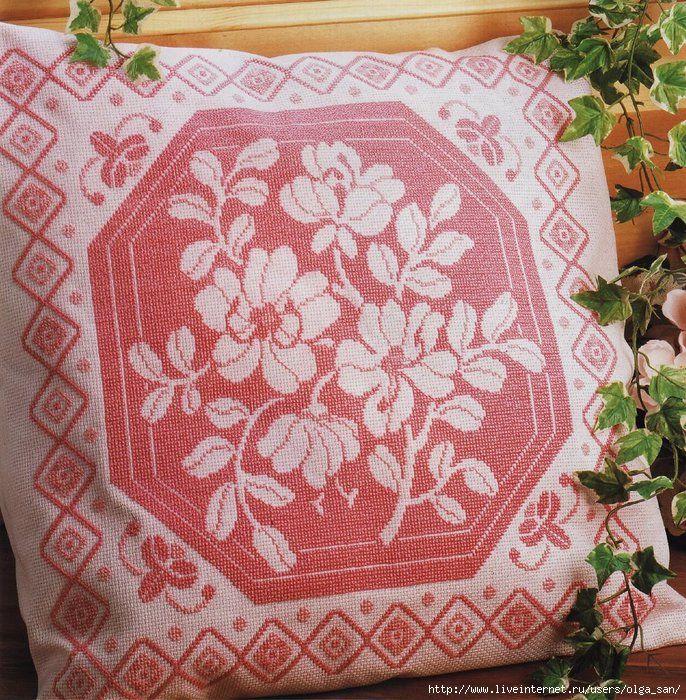 Вышивка крестом для подушки. Обсуждение на LiveInternet - Российский Сервис Онлайн-Дневников