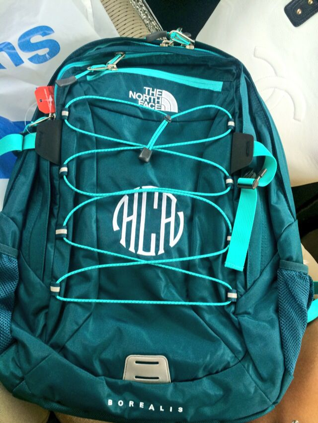 I get everything monogrammed, literally. #monogrammed #northface #backpack