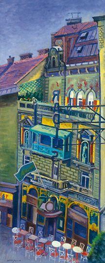 Vörös Géza: A Mai Manó ház a Nagymező utcában, 1946.