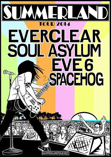 "NEWS: The alternative rock band, Everclear, have announced eight additional dates for their third annual ""Summerland Tour"" with Soul Asylum, Eve 6 and Spacehog. You can check out the dates and details at http://digtb.us/SUMMERLAND"