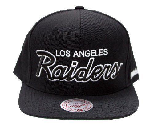 Mitchell   Ness LOS ANGELES LA Raiders NFL New Fitted Hat Cap Lid Era RARE  RETRO baafaac7bf2