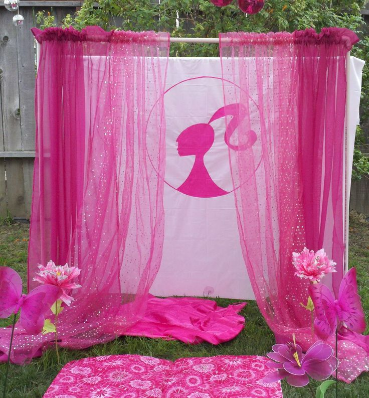 Barbie fashion show bday party I did for my daughter 6th birthday. they had a blast!