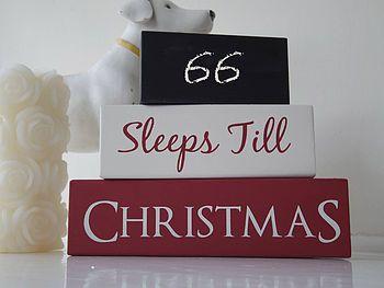 Sleeps Till Christmas Stacking Wooden Blocks