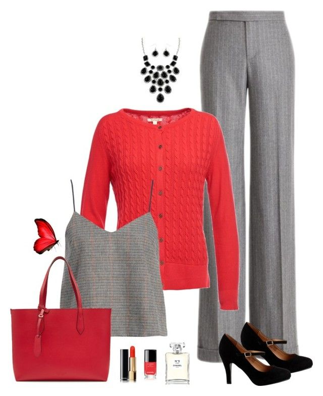 """""""Just for Me"""" by carolannstyle on Polyvore featuring Ralph Lauren Collection, Barbour, J.O.A., Burberry and Chanel"""