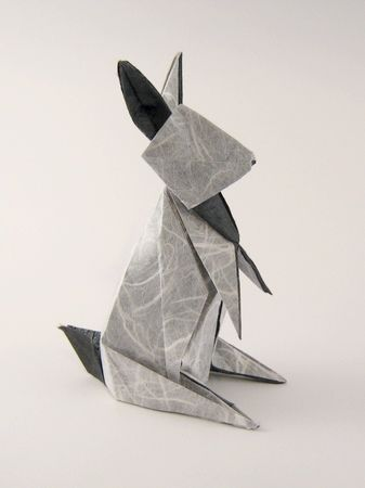 Origami Rabbit by Hideo Komatsu folded by Gilad Aharoni