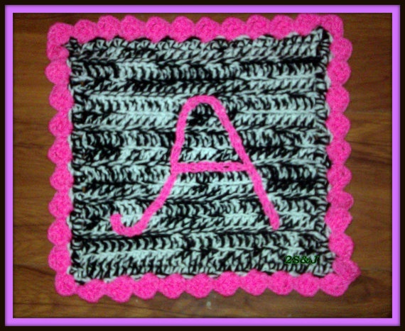 Zebra Crochet mini Security Blanket Blanket by SubasJandSualyJShop, $18.00