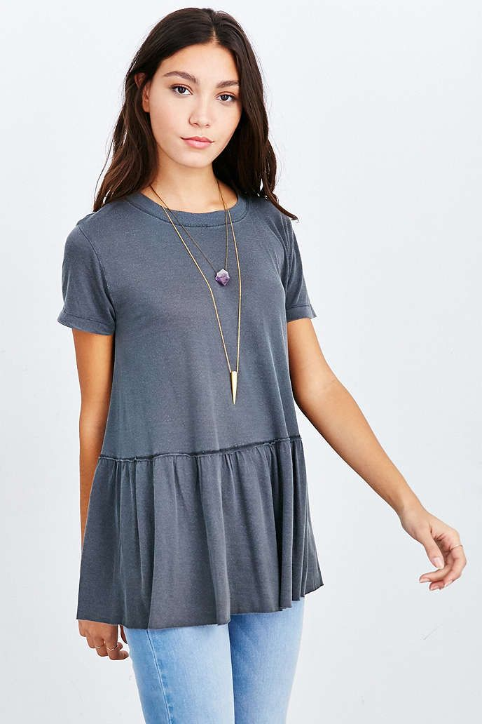 Truly Madly Deeply Dusty Road Peplum Tee - Urban Outfitters $39