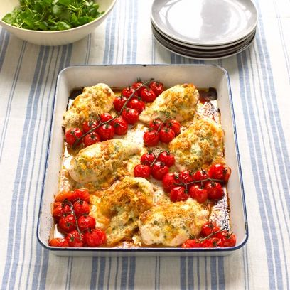 Mary Berry's chicken with pesto. For the full recipe, click the picture or visit RedOnline.co.uk