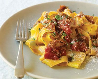 Duck Ragu - I'm dying to make this for a dinner party...if only I had space for a table.