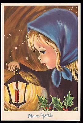 Pmce Cartolina Buon Natale Fg N Serie 1187/2 - Bimba Agrifoglio Lume