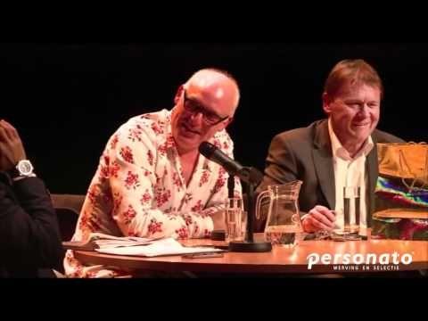 Rene van der Gijp en Hai Berden bij het tienjarig jubileum van Personato.