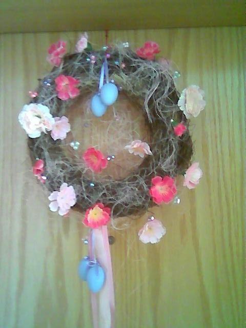 Easter door wreath -DIY