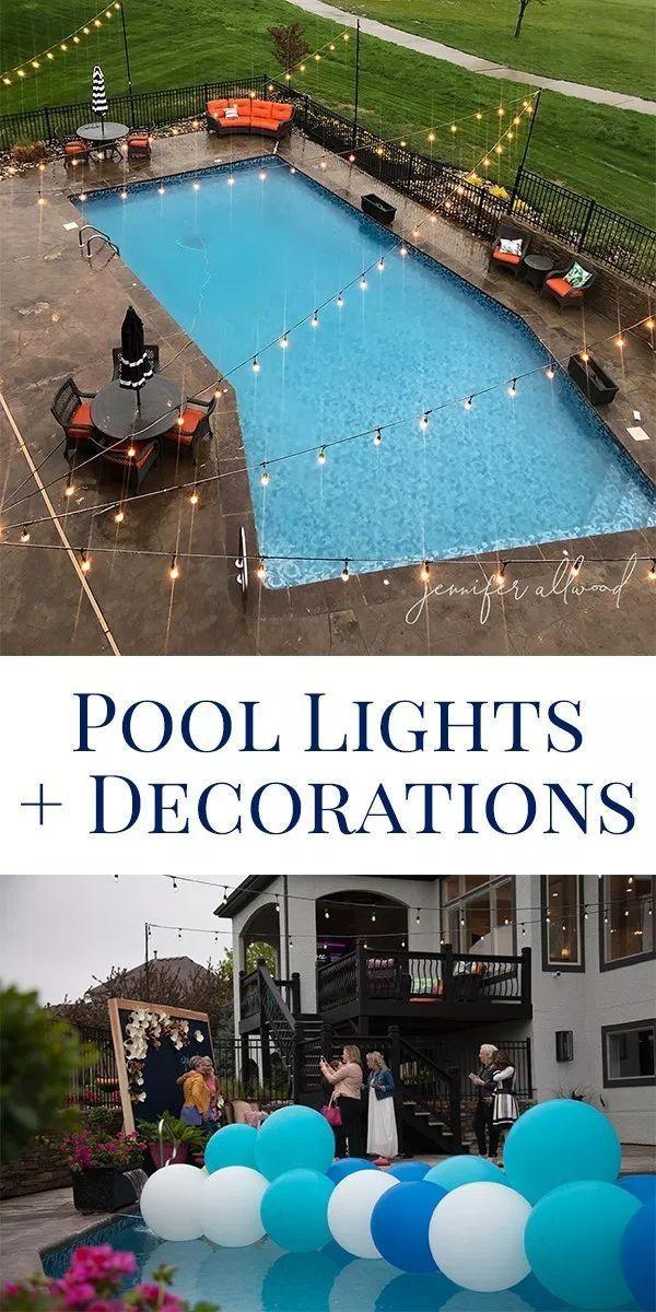 Lights Around Pool Area With Images Pool Lights Pool Pool Area