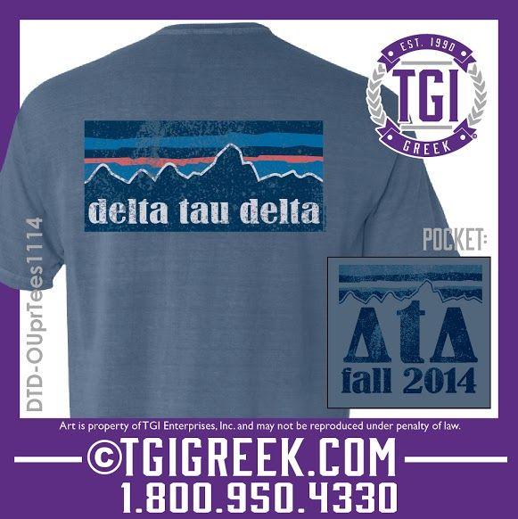 TGI Greek - Delta Tau Delta - Fraternity PR - Comfort Colors - Greek T-shirts #tgigreek #deltataudelta