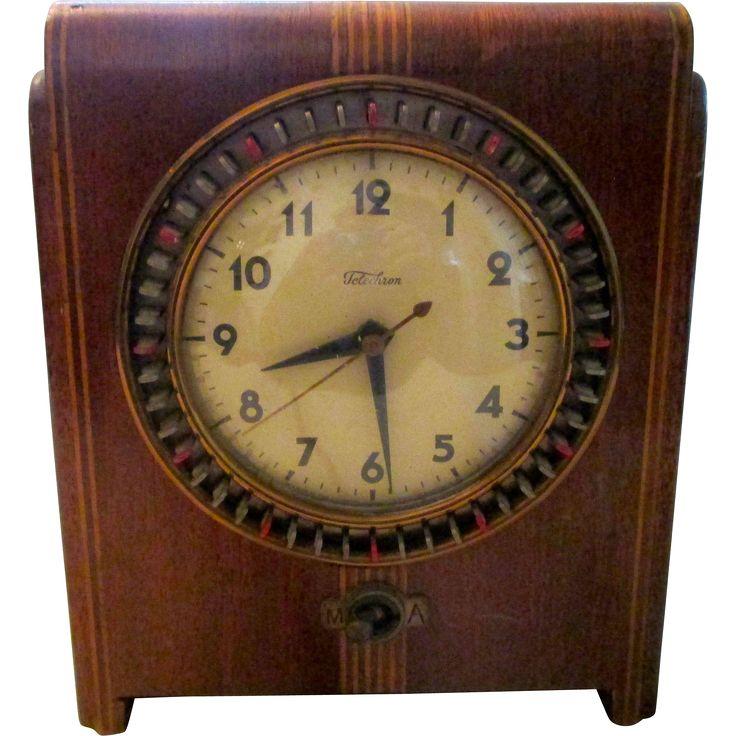 Vintage Pre War Warren Telechron clocktimer by designer