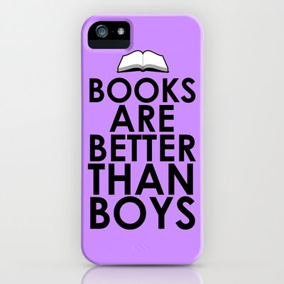Books are Better than Boys iPhone & iPod Case by LookHUMAN  - $35.00