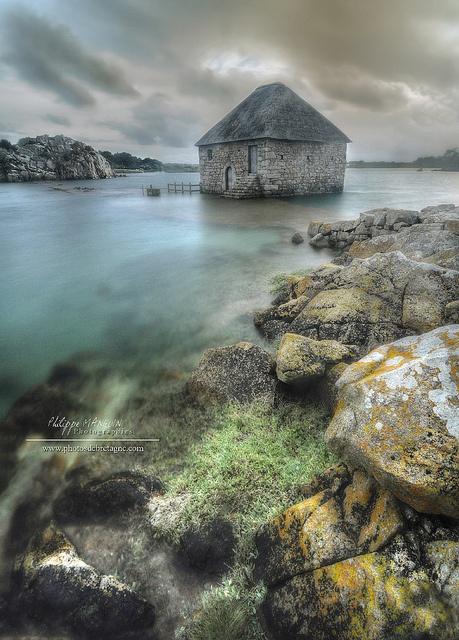 le moulin à marée du Birlot, Ile de Brehat - Côtes d'armor, France