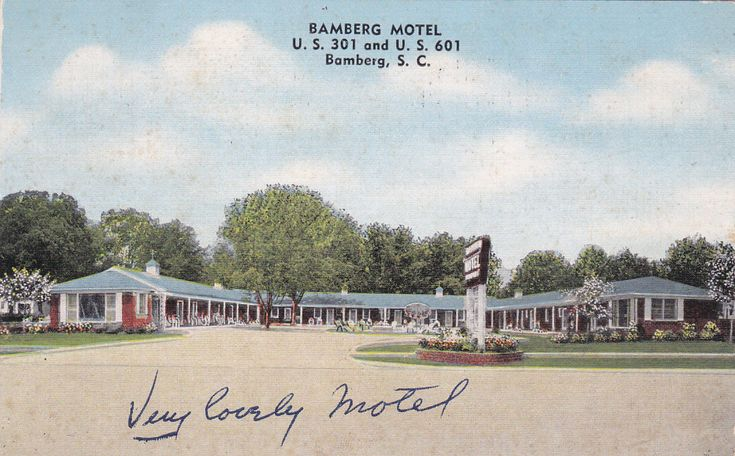 Bamberg Motel, On U.S. 301 and U.S. 601 in the center of Bamberg, SC - 1954