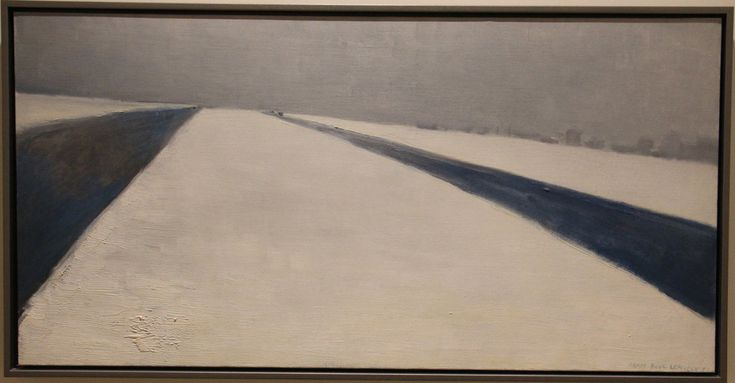 Jean Paul Lemieux, Highway, Oil on canvas, 1963