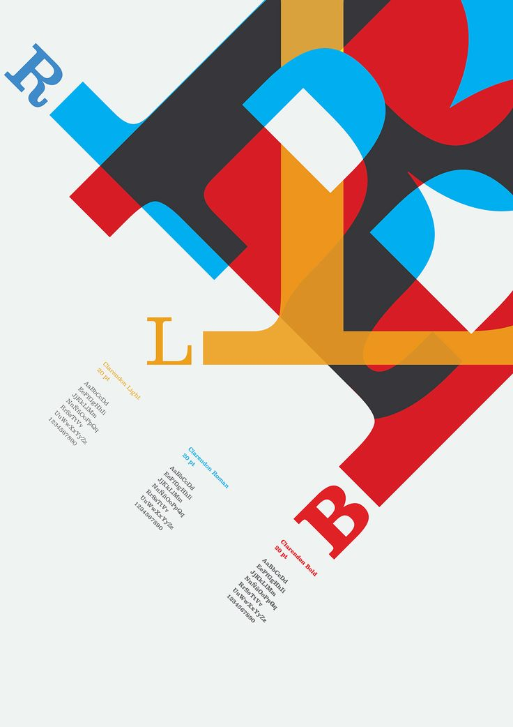 Specimen typography by Mónica Cardenas