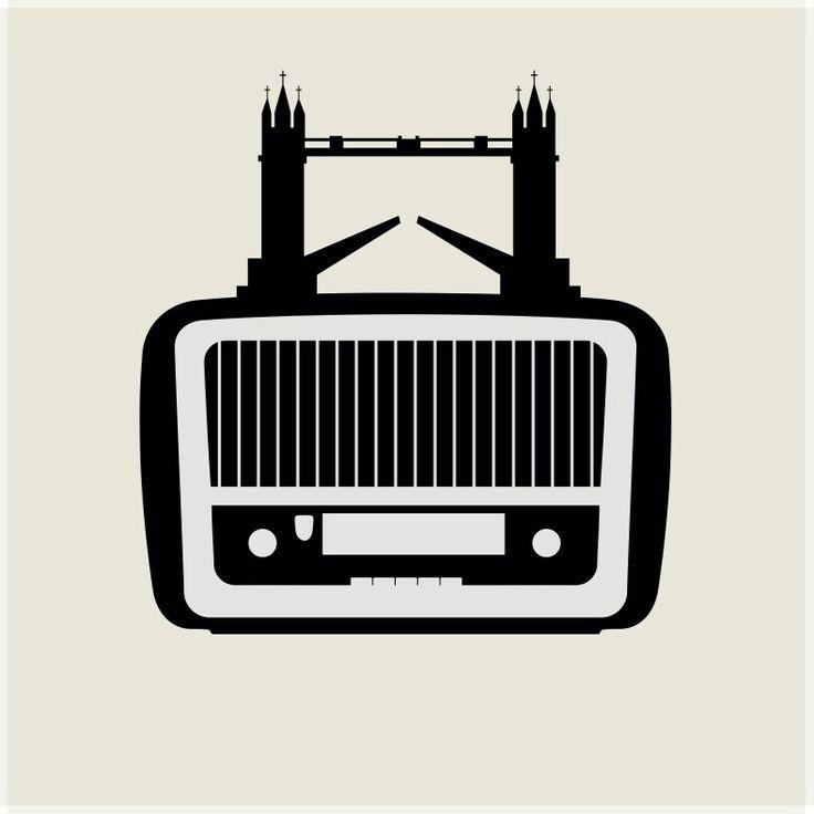 """Radio Londra - Radio London""  www.gigarte.com/lucianocaggianello"
