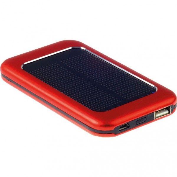 """Chargeur solaire 4000 mAh """"NIHAU"""", ce chargeur de secours permet de recharger un téléphone portable à tout moment"""