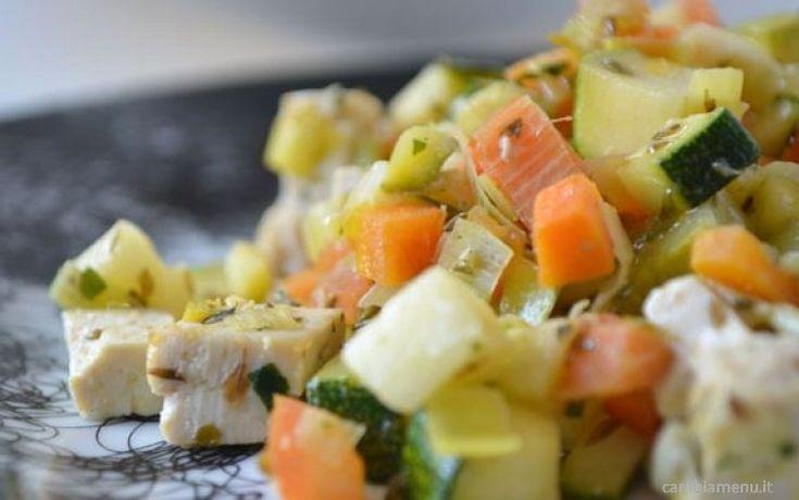 Cambia Menu » Tofu con macedonia di verdure al forno   Ricette
